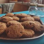 Veganské americké cookies sušenky