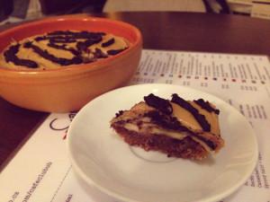 raw čokoládový dezert